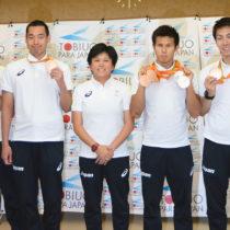 水泳の木村らが帰国「4個のメダルより金メダルが欲しかった」